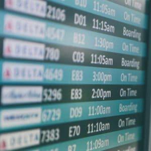 Departure information board