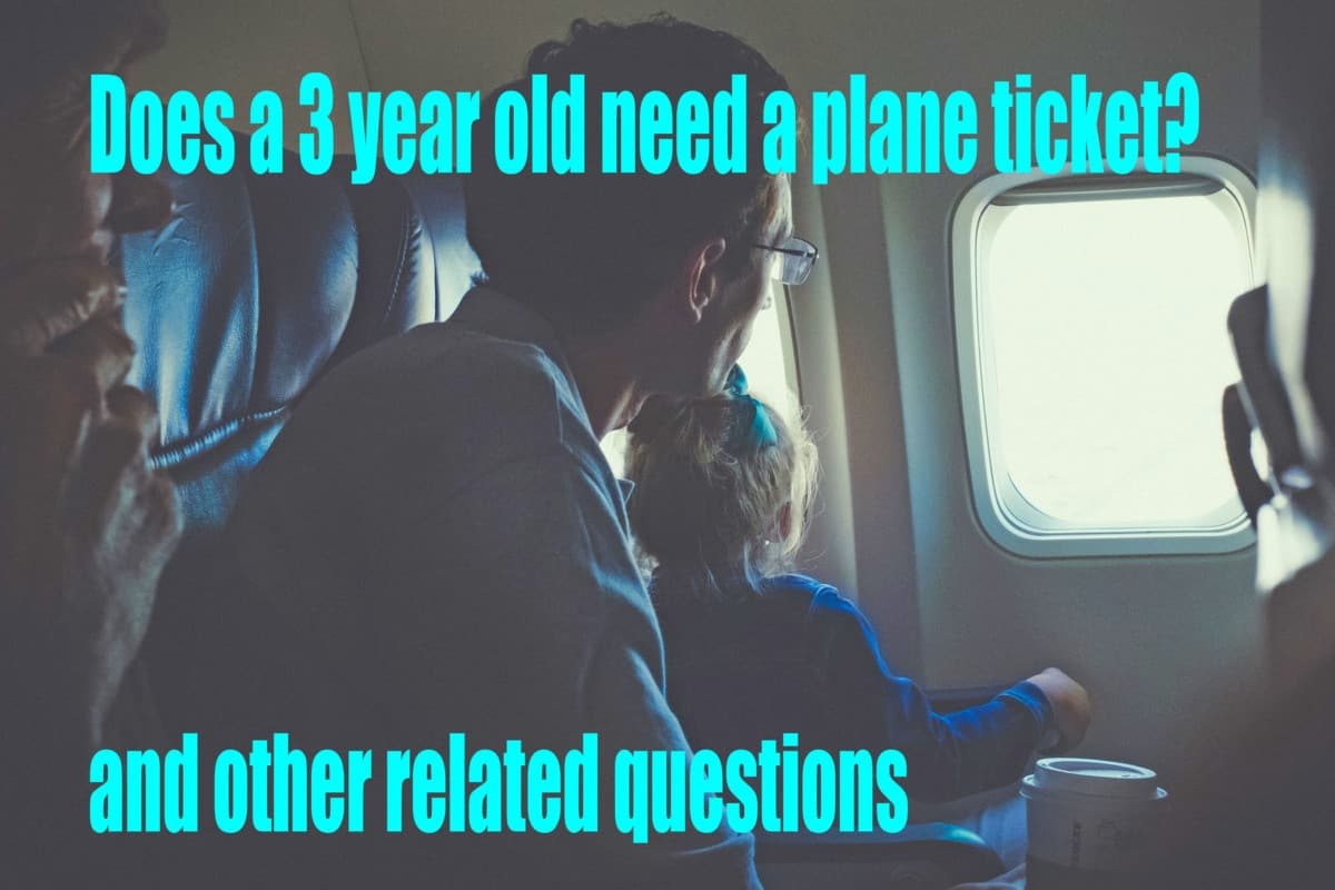 Does a 3 year old need a plane ticket?