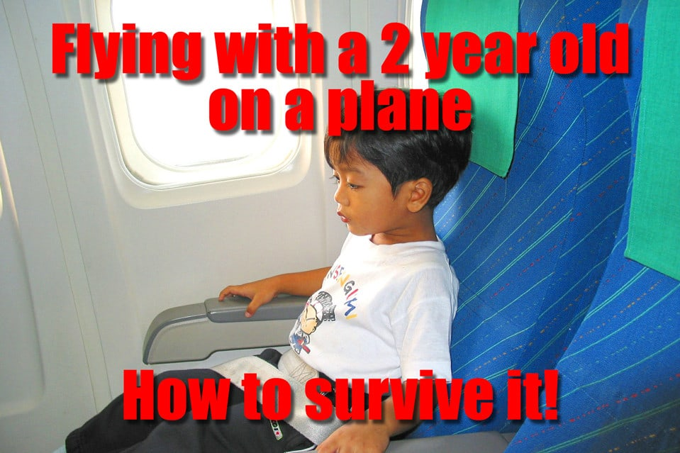 Flying with a 2 year old on a plane - how to survive it!