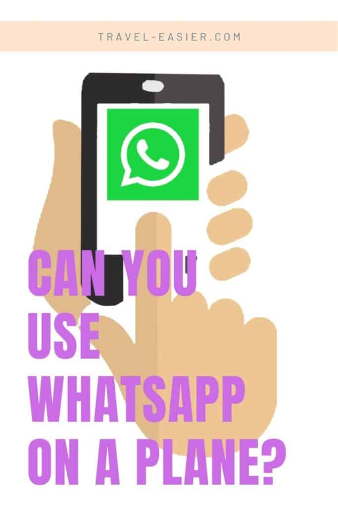 Can you use Whatsapp on a plane - Pinterest image
