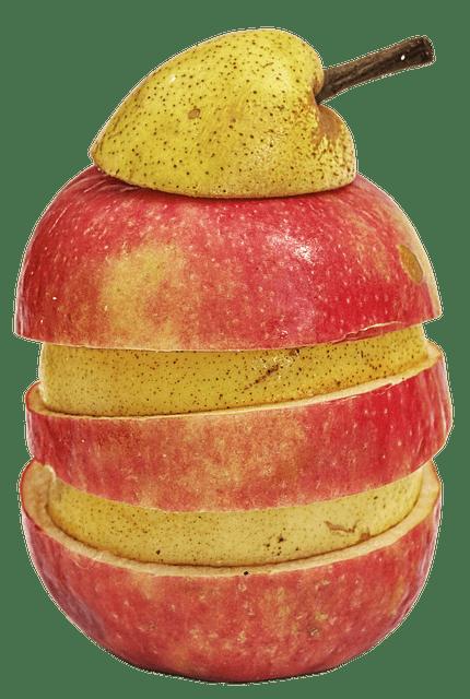 fresh fruit on a plane - sliced