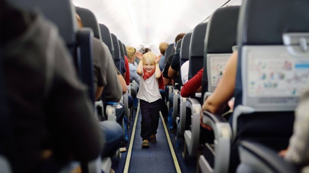 flying with children - child on a plane