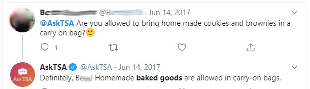 Can you bring baked goods on a plane?