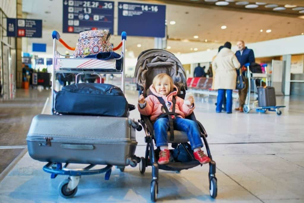 stroller at airport