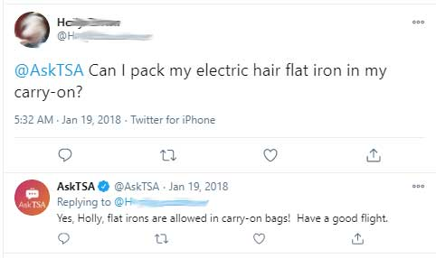 Can You Bring a Flat Iron on a Plane