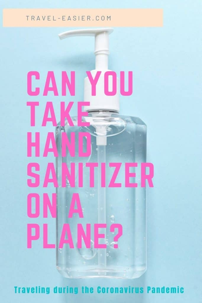 Can You Take Hand Sanitizer on a Plane - Pinterest image