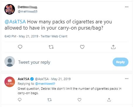 How many cigarettes can you take on a plane?