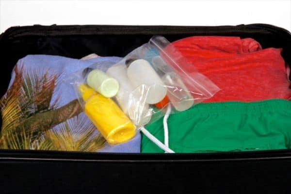 liquids in a one quart resealable bag