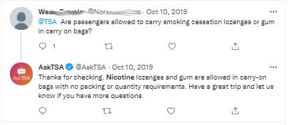 Can You Bring Nicotine Gum on a Plane? 1