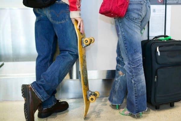 can you take a skateboard on a plane