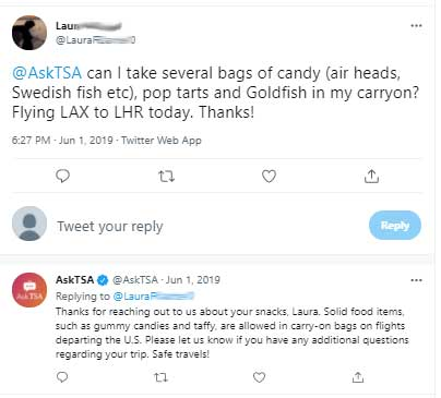 Can you take candy in your carry on