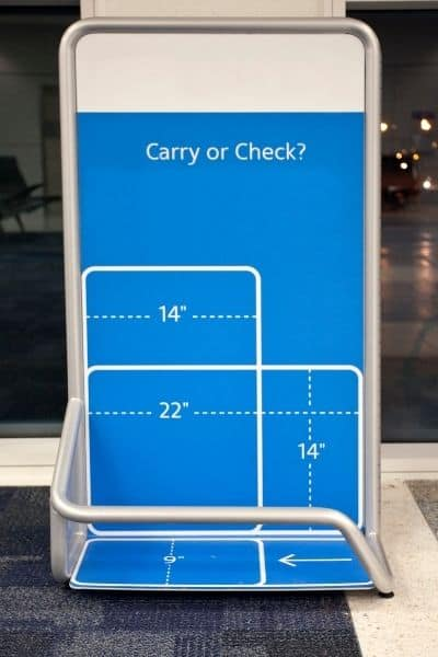 Can you take a backpack as carry on luggage